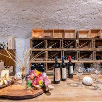 La cantina dell'Osteria Chiara